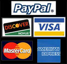 We accept all major credit cards!